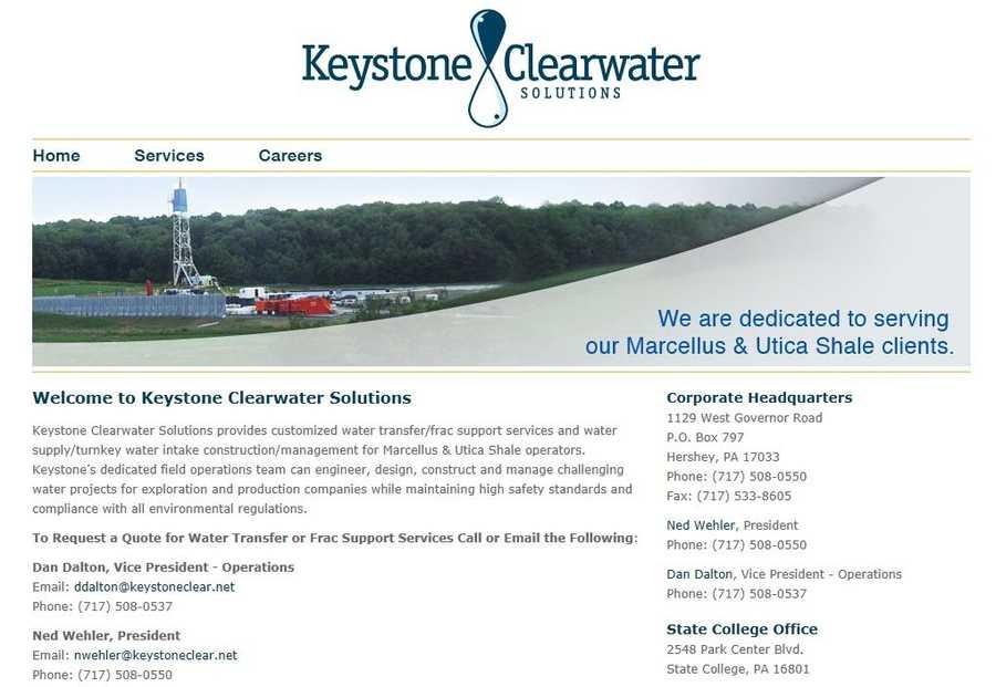 Keystone Clearwater Solutions, LLC, Hershey, Dauphin County.