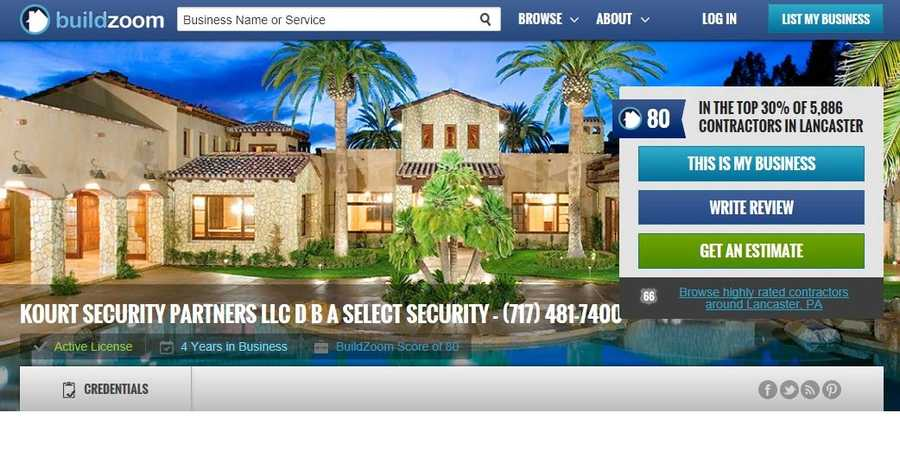 Kourt Security Partners d/b/a Select Security, Lancaster, Lancaster County.