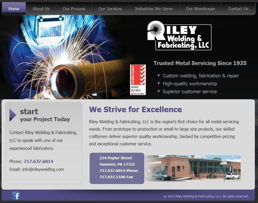 Riley Welding & Fabricating LLC,Hanover, York County.