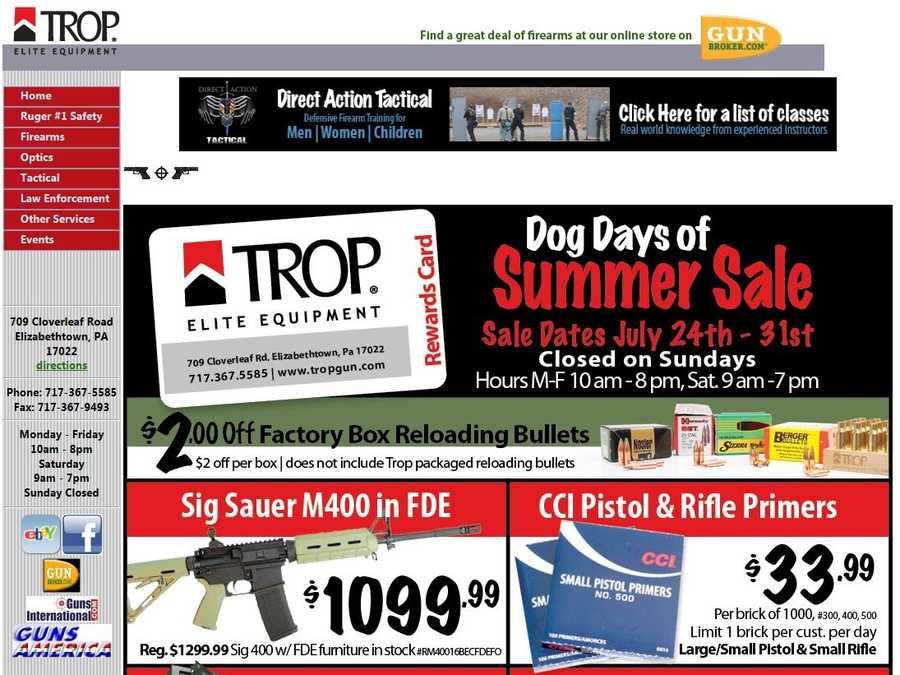 Trop Gun Shop,Elizabethtown, Lancaster County.