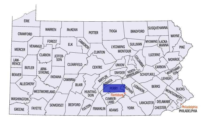 Perry County: 29 licensed dealers, population 45,900.