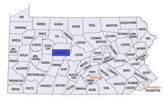 Clearfield County: 23 licensed dealers, population 81,600.