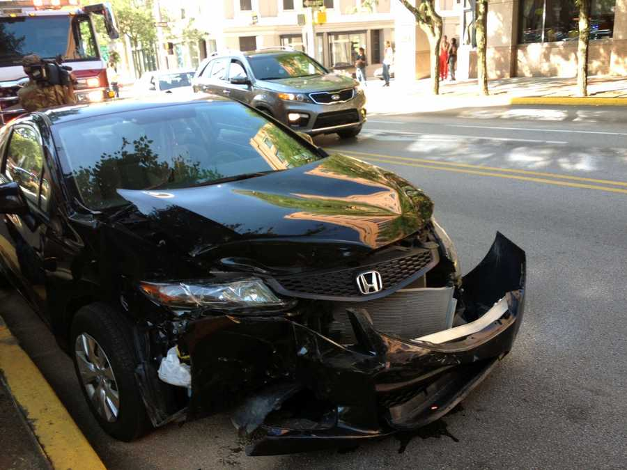 The driver of the Honda was not hurt.