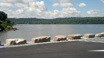 The Pequea boat ramp now extends about 120 feet into the Susquehanna River.
