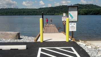 The $3 million project also added a new parking area, and warning signs about the dam.