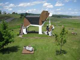 """Ruffing it: Dog Bark Park Inn, Cottonwood, Idaho. Travelers visiting this bed and breakfast located 200 miles north of Boise will be glad to be in the doghouse. Guests are warmly welcomed as they enter the B&B built in the shape of a giant beagle, affectionately named """"Sweet Willy,"""" and make their way to the loft room located in the pooch's head. Amenities include complimentary breakfast, air conditioning, and as a pet-friendly property, lots of tail-wagging fun. """"Simply put this is the best place we've ever stayed. A noble and absurd undertaking - made with love and care - Sweet Willy was fun, silly and cozy,"""" said a TripAdvisor traveler."""