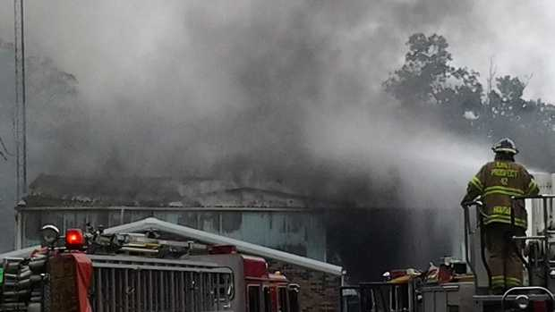Fire destroyed the Lower Windsor Township highway building Thursday morning.
