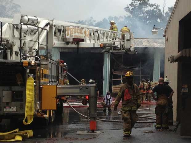 The township now only has two vehicles left for its highway department. Those trucks were out on the road at the time of the fire.