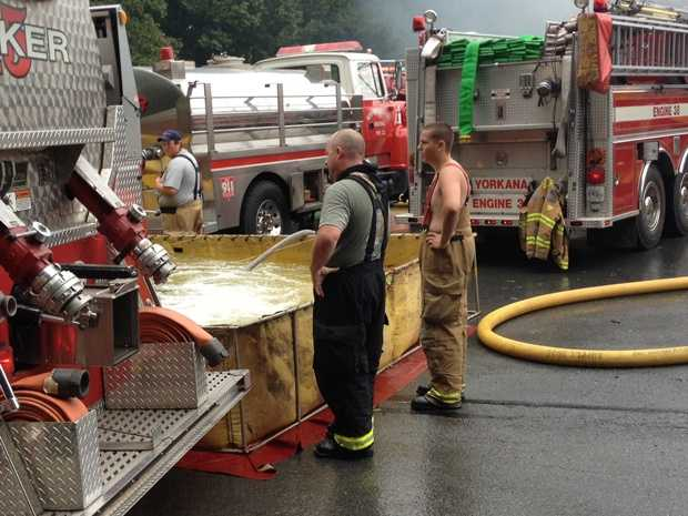 Forty fire companies responded to the fire.