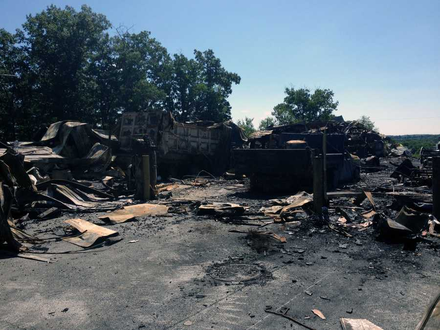 Lower Windsor Township officials are borrowing equipment from other communities after their maintenance building was destroyed by fire last week.