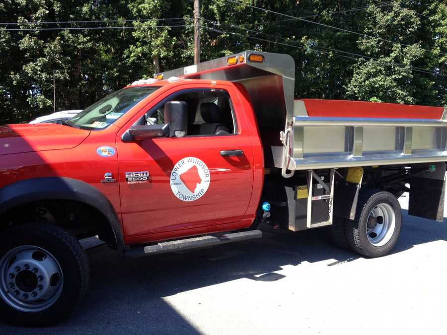 This is one of two township trucks that were not destroyed in the fire.