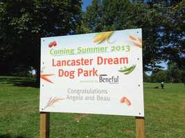 The Beneful Dream dog park in Lancaster opened Tuesday.