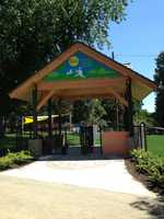The $500,000 project was granted to contest winner Angela Bauman to renovate the dog park in Buchanan Park.