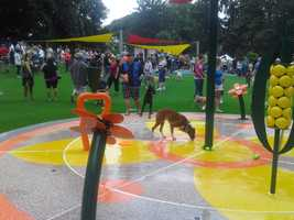The dog park officially opened Tuesday morning.