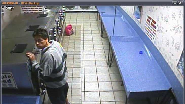Police released this surveillance camera image of the man accused in the thefts.