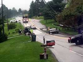 The crash happened about 7 a.m. in the 1000 block of Windsor Road.