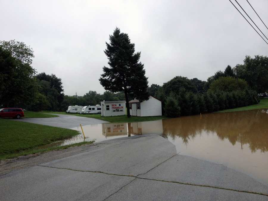 Access to the Ben Franklin RV park is blocked.