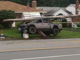 The accident happened around 6:30 p.m. on Market Street.