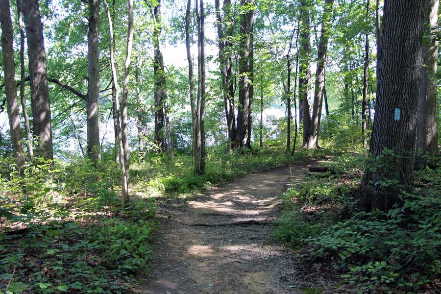This loop trail connects all the major park attractions. The trail is closed to mountain bikes around Hopewell Lake.