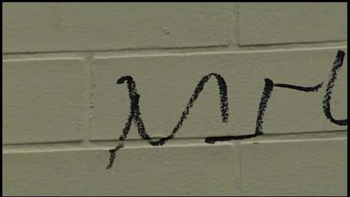 The slurs were written on a Hershey motel and a nearby car.