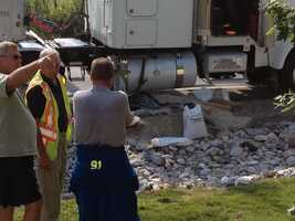 About 50 gallons of diesel spilled from a truck Wednesday morning in Lower Windsor Township, York County.