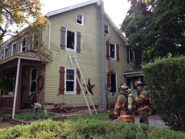 Fire severely damaged a home in York County on Wednesday afternoon.