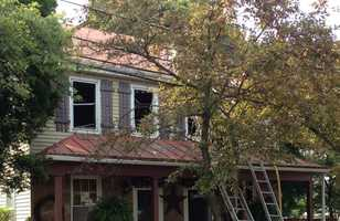 The homeowner told News 8 that she was in the house with her daughter around 3:30 p.m. when she heard a loud noise and the home started filling with smoke.