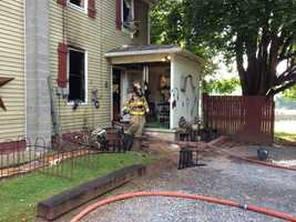 Early indications are that the fire started at the back of the house.