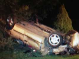Police say the car went out of control on Williams Grove Road around 1 a.m. Thursday and then flipped several times.