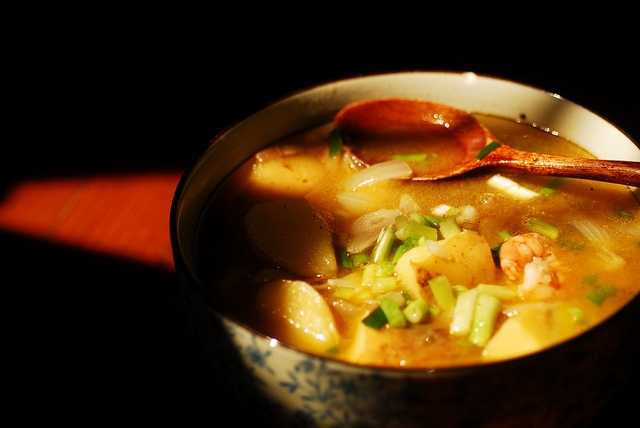 Rival soup, which is usually a chicken based soup with vegetables.