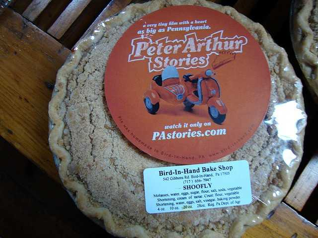 ... the dry bottom variety of shoofly pie received votes.