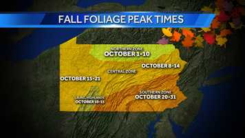 Ed Dix, a forest program specialist with DCNR, suggested leaf peeping spots in the Susquehanna Valley.