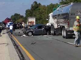 Thursday, Sept. 26: A crash involving nearly a dozen vehicles closed part of Interstate 83 in York County.