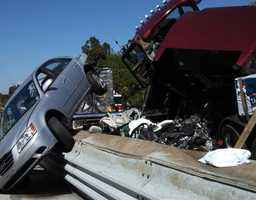 The crash involved big rigs and other vehicles.