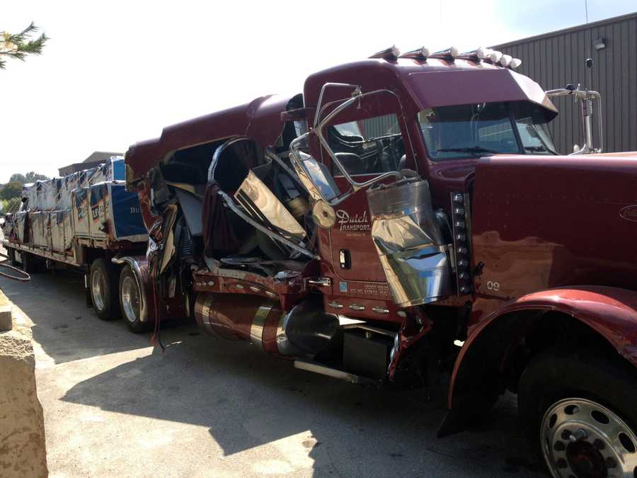 The truck at a salvage yard.