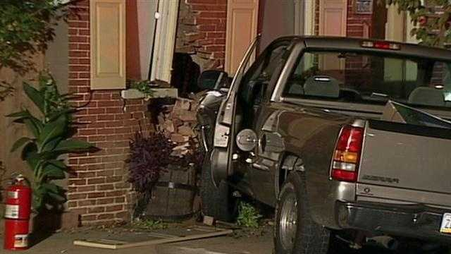 Monday, Sept. 30: Lancaster police said no one was hurt when a pickup truck smashed into a row home Sunday night at the corner of North Ann and East Marion streets. Two men ran away after the truck hit the home, according to Lancaster police. The men are suspects in the theft of two 50-inch TVs from the Walmart on Lincoln Highway, according to East Lampeter Township police. One of the TVs fell out of the truck as it left the store's parking lot and the other one was found in the bed of truck at the crash scene, police said.