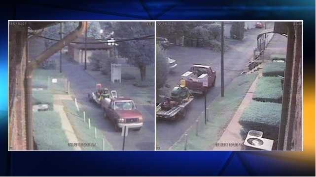 Police said they looking for this pickup truck in connection with the theft.