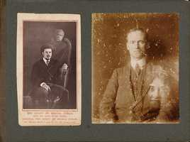 14. Many spirit photographers were exposed as frauds when their equipment and methods were examined. Most of these photographs are double exposures that may also be doctored in post-production.