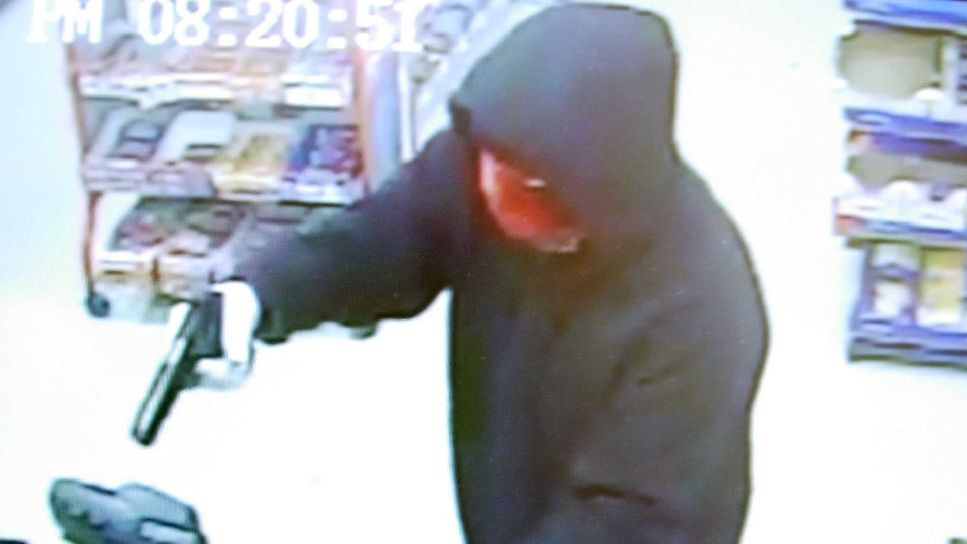 Police released this surveillance photo of the man accused in Monday night's robbery.