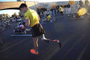 34. Wounded Warriors participate in the 2012 Army Ten Miler with hand-cycles Oct. 21, 2012 in Washington, D.C.