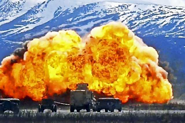 50. Soldiers detonate a mine-clearing line charge at Donnelly Training Area on Joint Base Elmendorf-Richardson, Alaska, May 25, 2012. The soldiers are assigned to the 84th Engineer Support Company and the 23rd Engineer Company.