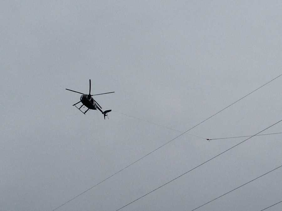 Helicopters are part of the reason traffic is crawling on Route 283 in Lancaster County.