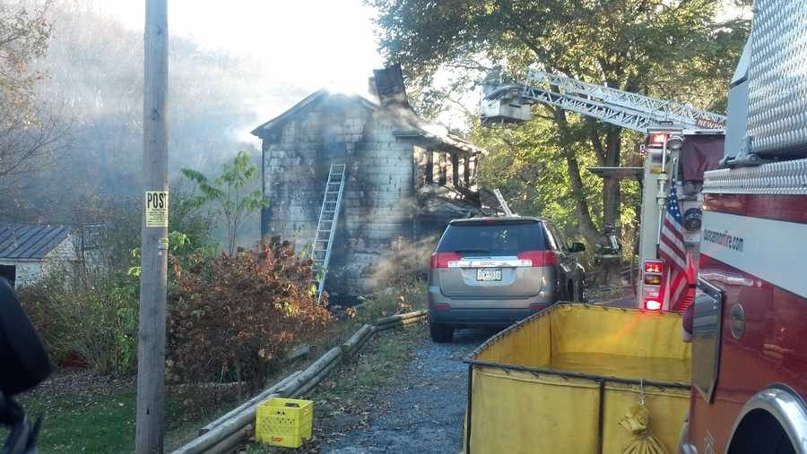Fire destroyed a two-story home on the 900 block of Old Ferry Road in Liverpool Township, Perry County Tuesday.