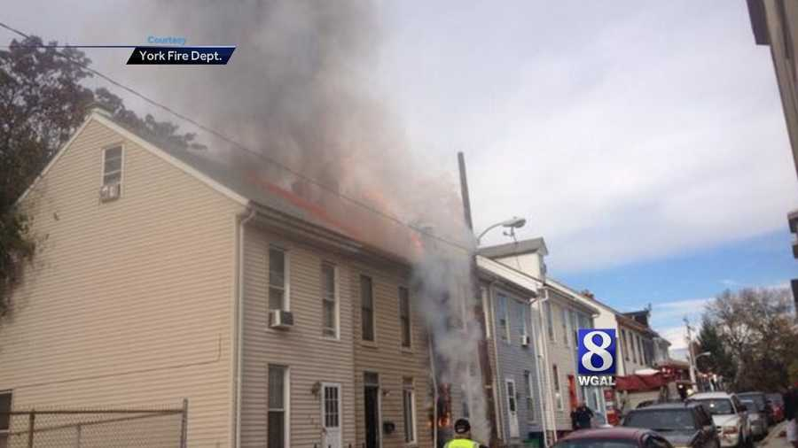 Fire crews responded to a blaze on Oak Lane in York City around 11 a.m. Wednesday.