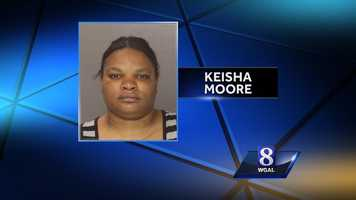 Tuesday, Oct. 29:A Harrisburg mother has been charged with abusing her 8-year-old son. Keisha Moore, 31, is charged with aggravated assault and endangering the welfare of children. She is accused of holding the hands of the boy under hot water. He was flown to the burn center at Lehigh Valley Hospital. Moore waived her preliminary hearing.
