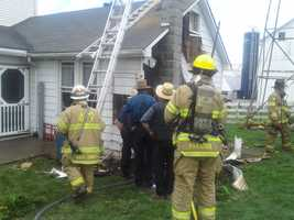 Fire caused several thousand dollars worth of damage to a Strasburg, Lancaster County, home on Friday.