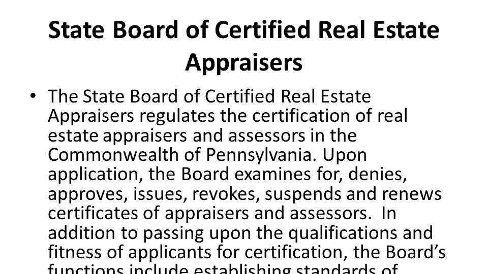 Pennsylvania\'s 29 occupational regulatory boards