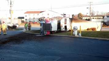 Wednesday, Nov. 13:A car and a tractor-trailer were involved in a Wednesday morning crash on Route 30 in East Lampeter Township, Lancaster County. A car was trying to turn left out of the Wawa about 7 a.m. Wednesday and did not see a tractor-trailer coming, police said. The truck driver swerved to avoid other traffic and rolled into grass in front of the business, they said. The truck driver was taken to a hospital with minor injuries, police said. A hazmat crew was called to clean up a diesel spill.
