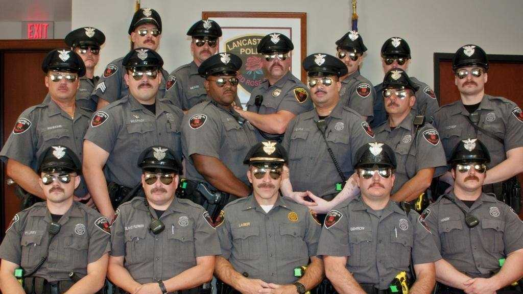 This is the group of officers who participated in Movember two years ago.