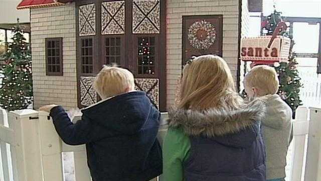 The fifth annual holiday chocolate house is on display at Hershey's Chocolate World.